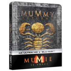 Blu-ray Mumie se vrací, The Mummy Returns, UHD + BD, Steelbook, CZ dabing | Elpéčko - Predaj vinylových LP platní, hudobných CD a Blu-ray filmov Rick E, Sci Fi Fantasy, Movies, Movie Posters, Films, Film Poster, Cinema, Movie, Film