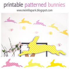 Printable Patterned Bunnies - cilck through for more easter printables