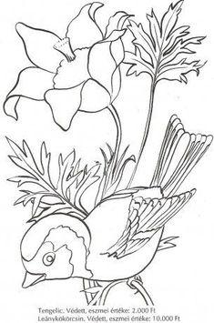 Május 10-én van a Madarak és fák napja! Irány az erdő, a természet. Figyeljük meg a kis énekes madarakat, nézegessük a fák gyönyörű koronáit… Majd hazatérve és sok élménnyel telve készítsünk … Butterfly Coloring Page, Bird Coloring Pages, Bird Embroidery, Hand Embroidery Patterns, Applique Patterns, Bird Art, Owl Art, Bird Template, Bird Stencil