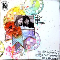 Vivian Keh Like Old Times Mixed Media Layout + Video Tutorial