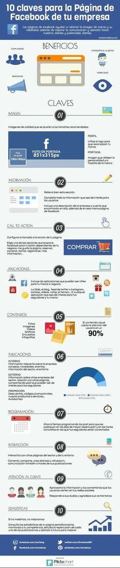 10 claves para la página de Facebook de tu empresa... #SocialMediaOP #SocialMedia #Marketing