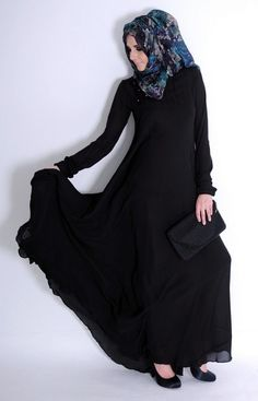 Impressive collection of abaya with flare designs  (16)