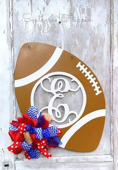 Check out this item in my Etsy shop https://www.etsy.com/listing/551082489/custom-jumbo-initial-football-door