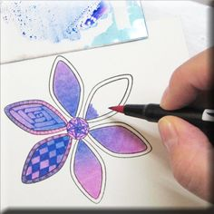"""Tombow """"Tip-niques"""" ~ Brush Blending with Dual Brush Pens by Marie Browning"""