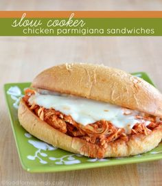 Slow Cooker Chicken Parmigiana Sandwiches Recipe | FoodFamilyFinds.com