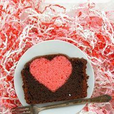 Hidden Heart Valentine's Pound Cake Recipe - ZipList