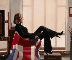 Jack Vettriano Olympia portrait of Zara Philips Prints Jack Vettriano, Olympia, The Singing Butler, Zara Phillips, Edward Hopper, Union Jack, Limited Edition Prints, Royals, My Favorite Things