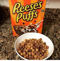 Reese's puffs Fun Foods To Make, Healthy Snacks To Make, Food To Make, I Want Food, Love Food, Baby Food Recipes, Snack Recipes, Reese's Puffs, Food Wallpaper