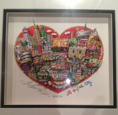 The Heart of The City New York 3D Pop Art Serigraph by Charles Fazzino | Looks great in our apartment