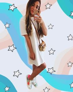 Summer #ootd, t shirt dress for summer #amazonfashion #fashion #ootd #casual Blazer Outfits For Women, Cute Tshirts, Outfit Posts, Spring Fashion, Texas, Short Sleeve Dresses, Style Inspiration, Shirt Dress, Summer Dresses