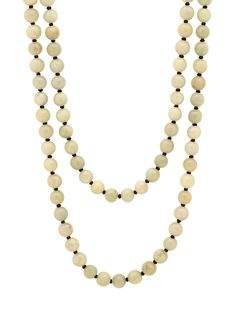 London Jewelers Collection Green Jadeite Bead Necklace. $810.00