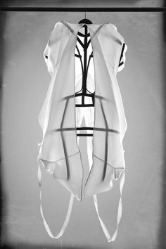 19-11-11  Fashion designer Julia Krantz has created this collection of garments comprising translucent fabrics draped over metal frames.