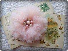 handmade flower rose pink fabric brooch by handpaintedpinkroses