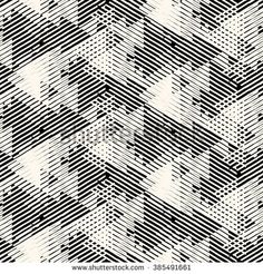 Vector geometric seamless pattern with lines and overlapping triangles in black and white. Striped modern bold print in style for summer fall fashion. Geometric Patterns, Textures Patterns, Print Patterns, Geometric Lines, Loom Patterns, Vector Pattern, Pattern Art, Pattern Design, Etnic Pattern