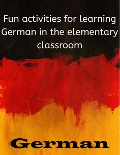 Great for elementary German!