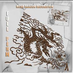 Asian Dragon Decoration Mesh Full perm 12 impact