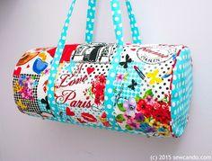 Tutorial: Bon Voyage Travel Duffel Bag