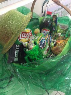 montei uma cesta com delicias que tenham embalagem verde !