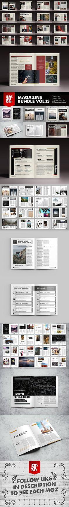 Magazine Bundle 13 #magazine #indesign