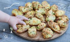 These homemade baby food Cheese and Chive Stuffed Potato Skins packed full of veggies and make a delicious meal for baby led weaning.