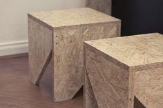OSB Furniture . Easy to Make Stools . DIY