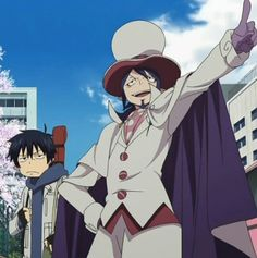 Blue Exorcist ~~ Mephisto has big plans for Rin... who looks underwhelmed.