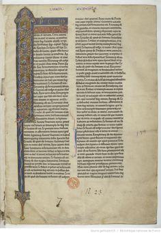Titre : Genèse et autres livres de l'Ancien Testament Date d'édition : 1101-1200 Type : manuscrit  Latin 11549 1r