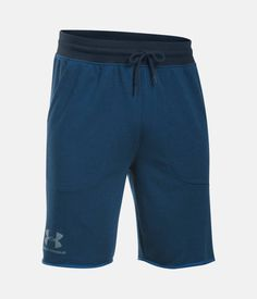 Men's UA Sportstyle Terry Fleece Shorts, BLACKOUT NAVY, zoomed image