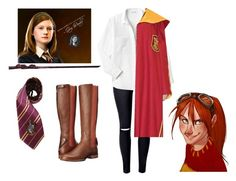 """Ginny Weasley"" by baileyem-1 on Polyvore featuring Lacoste, Elope and Ariat"