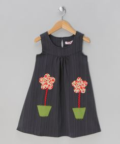 Blue Flower Pot Dress - Infant, Toddler & Girls | Daily deals for mums, babies and kids