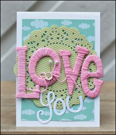 10 Great ways to use Baker's Twine - wrapped letters card