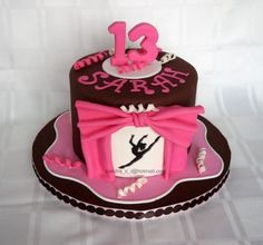 13 Birthday Gymnastics Cake omg I want this cake but it looks like it could be a dance not gymnastics cake