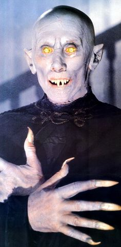 Kurt Barlow Master Vampire played by Reggie Nader in Salem's Lot 1979. Returning to the Nosferatu aesthetic down to long finger nails, ears, incredibly pale complexioon and bald head.