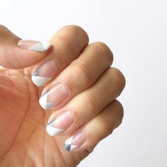 geometric french manicure / sallyjshim