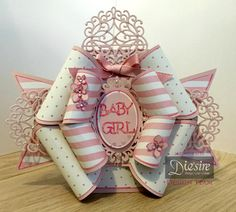 Mel Jess - Die'sire Edge'ables Bow Card Pink - Romantic Swirls Edge'able - Core'dinations Pastel - Spectrum Noir –  PP5 - Ribbon, Gems, Collall Tacky Glue, Collall 3D Glue Gel, Foam Pads,  Red Liner Tape - #crafterscompanion