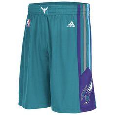 Mens Charlotte Hornets adidas Teal Swingman Shorts