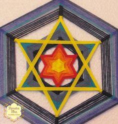God's Eye Craft, Gods Eye, Wool Art, Diy Home Crafts, Chakra, Dream Catcher, Macrame, Origami, Weaving