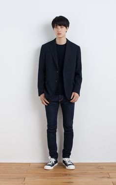 MUJI | WOOL MIX BLAZER | WOOL SILK WASHABLE CREW NECK SWEATER | WATER REPELLENT ORGANIC COTTON SNEAKERS