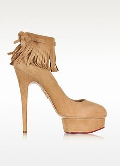 Sundance Dolly Wheat Suede Fringe Platform Pump - Charlotte Olympia. Get unbeatable discounts up to 50% Off at Forzieri Australia using Coupons.
