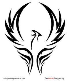 Image result for Phoenix rising tattoo black
