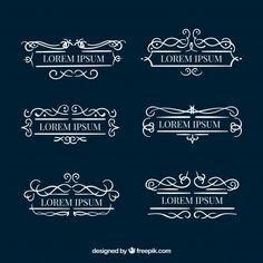 Set of decorative monograms Free Vector