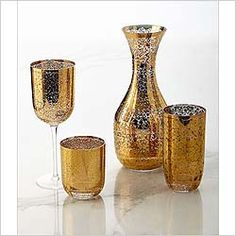 Kim Seybert Glassware | Madison Ave Gifts Gold Powder, Hand Blown Glass, Kitchen, Gifts, Cooking, Presents, Kitchens, Favors, Cuisine