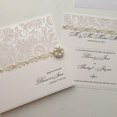Pearl Sensation - day and evening invitation