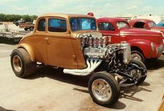 33 Willys Gasser.  Check out the Injected Ford 427 S.O.H.C