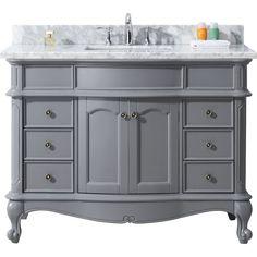 "Norhaven 48"" Single Bathroom Vanity Cabinet Set in Grey"