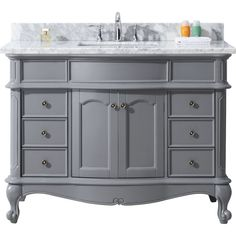"Norhaven 48"" Single Bathroom Vanity Cabinet Set in Grey"