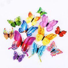 Mixed Color Layer Butterfly Wall Sticker for Home Wedding decor Magnet Shops, 3d Butterfly Wall Stickers, Diy Stickers, Home Wedding, Wedding Decor, Beautiful Butterflies, Beautiful Flowers, Pvc, Vinyl Art