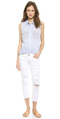 Paige Denim Jimmy Jimmy Cropped Jeans | SHOPBOP