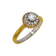 Sunflower Ring, 18K Gold over Sterling
