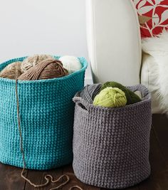 Stash Baskets crochet pattern